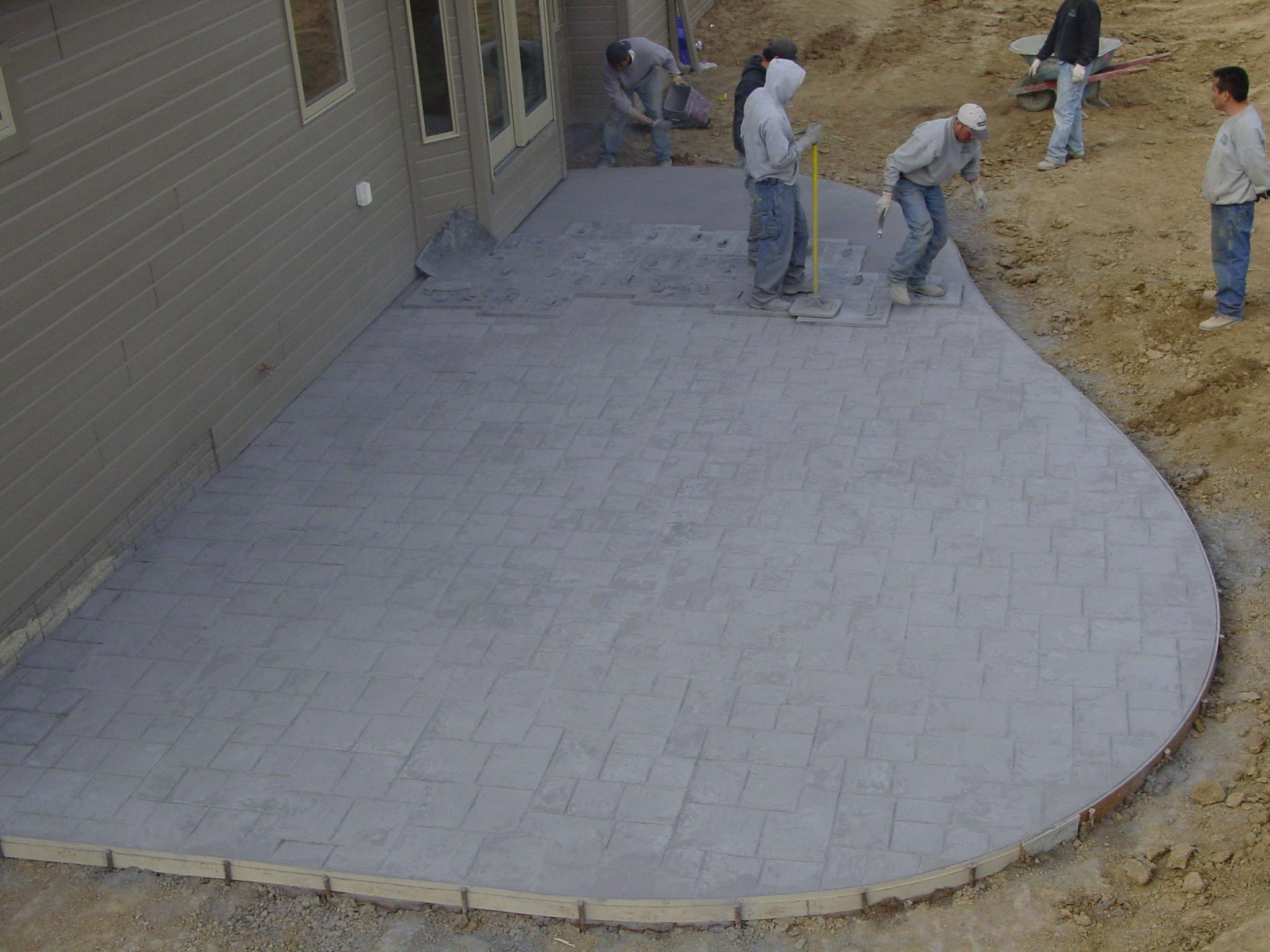 Stamped Concrete Ashler Slate Patio