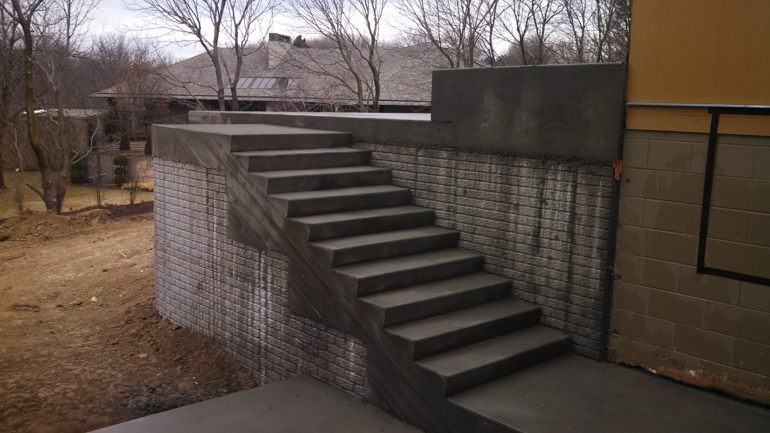 Structural Concrete Steps and Patio