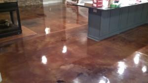 Residential Acid Stain Floor